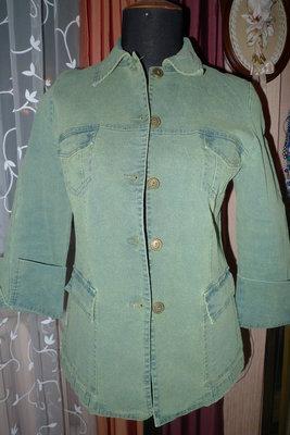 Пиджак жакет куртка джинс зеленый р.48-50