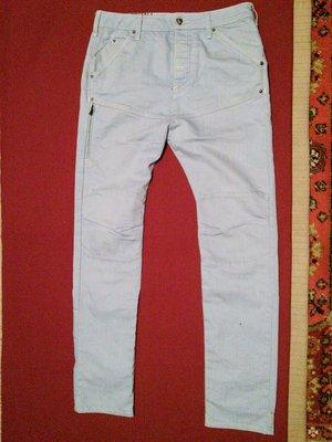 Плотные креативные джинсы голубого цвета Gallice. Голландия 31/34.