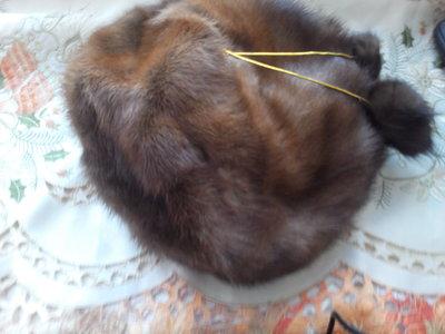 шапка норковая женская р.55-58