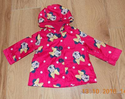 Красивая куртка-ветровка George для девочки 6-9 месяцев, 74 см