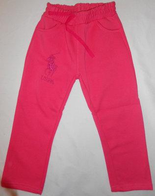 Спортивные штаны на девочек с начесом, 5 - 8 лет