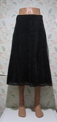 Теплая вельветовая юбка миди, р.46