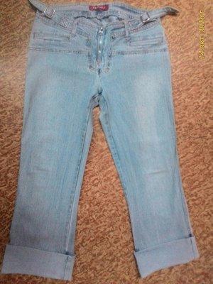 Стрейчевые джинсовые бриджы капри м/l vs collection