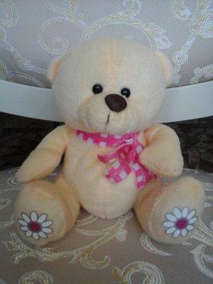 Чудный мишутка с цветочками мягкая игрушка мишка медведь