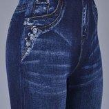 Женские лосины под джинс на меху Бамбук