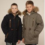 Зимние куртки-парки для мальчиков