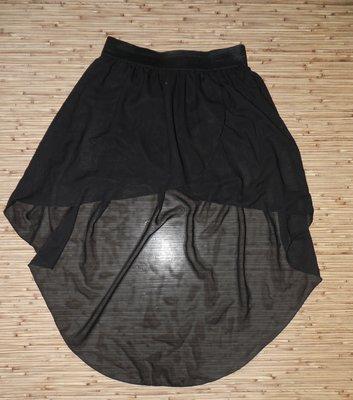 Чёрная юбка с шлейфом Ribbon 10 размер.