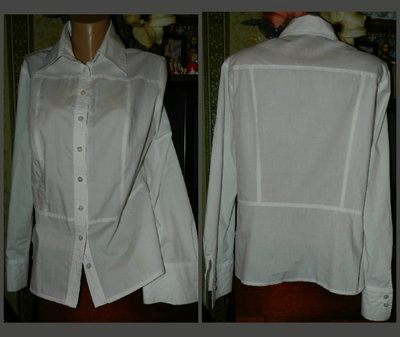 Новая белая блузка 100%- коттон.