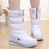 дутики женские зимние сапоги Хит ботинки термо снегоступы угги