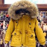 куртка детская теплая парка, на мальчика, девочку, пальто