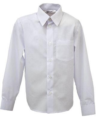 Белая рубашка с длинным рукавом на мальчика