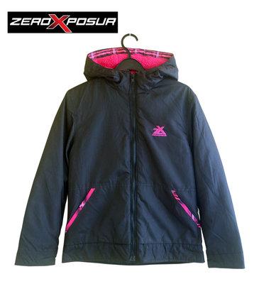 Курточка демисезон с капюшоном черная на 14 лет, ZeroXposur Америка