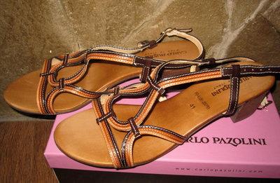 Продано: Кожаные босоножки Carlo Pazolini,Италия ,раз 41 по стельке -27см