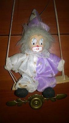 Винтажная фарфоровая коллекционная кукла клоун