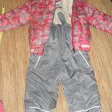 Очень теплый комплект, зимняя куртка и комбенизон