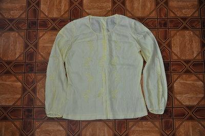 Легкая шифоновая блузка с длинным рукавом