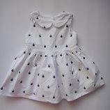 Белое платье Next Кораблик 3-6 мес