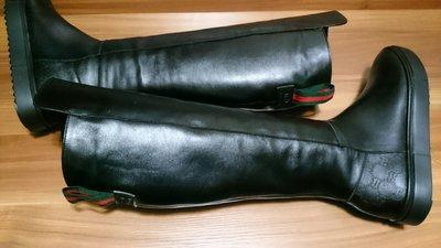 Черные зимние сапоги гуччи