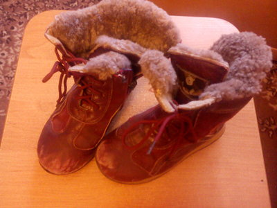 Сапожки зимние кожаные для девочки 27 размер