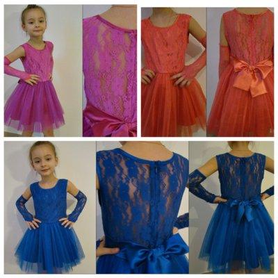 Праздничное платье 579 579-1 с перчатками р. 116-128