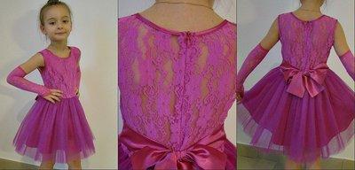 Праздничное платье с перчатками р. 116-128