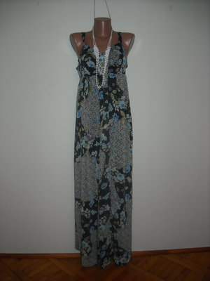 Платье Wallis с синим цветочным принтом из шифона