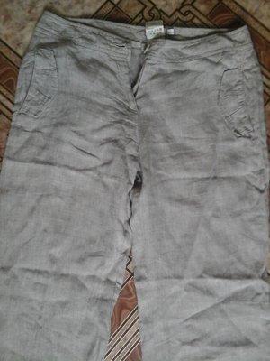 Стильные льняные брюки р. 44