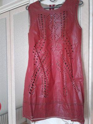 Платье из экокожи yes miss италия