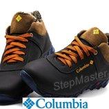 Ботинки кожаные зимние Columbia Blue Brown