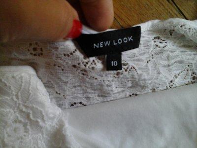 New Look білий мережевний топ