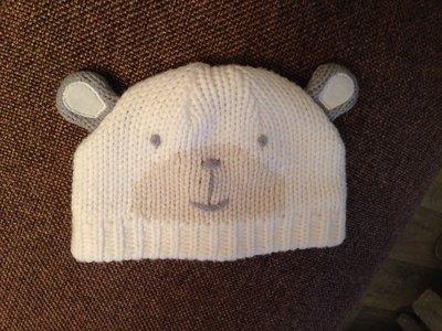 милая шапка шапочка мишутка мишка с ушками унисекс на 2-6 мес