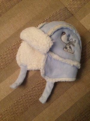 клевая шапочка на малыша 3-6 мес