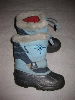 зимние термо сноубутсы Kamik, 17,5 см стелька, сапоги с валенком