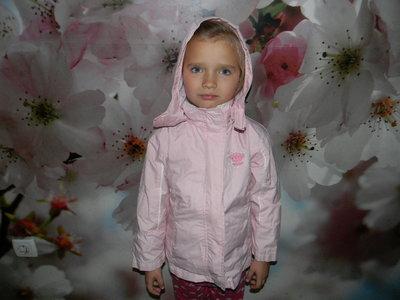 куртка-ветровка 2 в 1 Palomino для девочки 6 лет отл. сост.