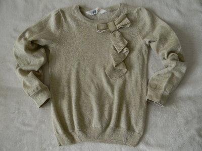 золотистый свитер H&M на 4-6 лет.