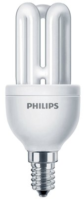 Лампа люминесцентная Philips Genie 8W на цоколь E14 маленький