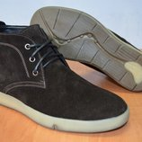 Зимние ботинки замшевые