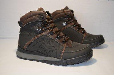 Зимние ботинки замшевые.кожаные