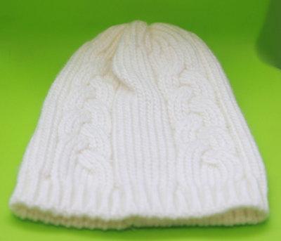 Белая Зимняя Шапка Новая женская вязанная шапка Женские головные уборы