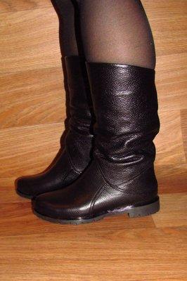 Зимние женские сапоги без каблука