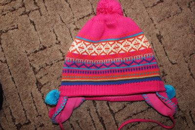 Красивая зимняя шапка р.52.