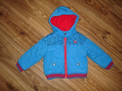 Теплая демисезонная куртка Debenhams на 2-3 года