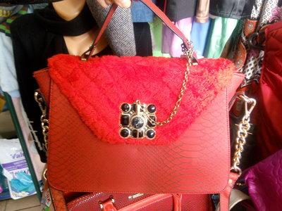 Сумка Dolce & Gabbana с мехом