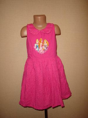 Пышное платье Disney на 7-8 лет с принцессами
