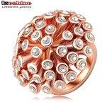 Шикарное кольцо с австрийскими кристаллами