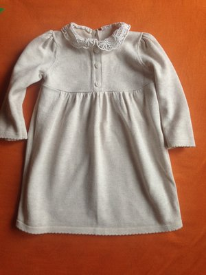 aee79fd2830 Теплое вязаное платье свитер туника George 6-9 мес с кружевным воротом