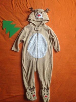 Новогодний человечек комбинезон оленёнок костюм оленёнка велюровый Mothercare 6-9 мес