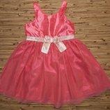 Бомбезное нежно розовое платье H&M на возраст 2-3 года и рост 98 см.