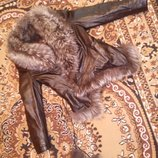 Ценасниженакожаная куртка осень зима