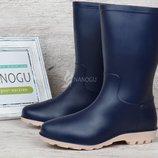 Сапоги резиновые женские синие Rubber boots